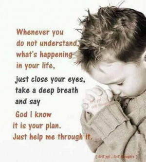 Trust in God's plan for you...Life Quotes, Prayer, God Plans, Remember ...