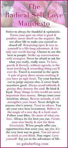 radical self love manifesto