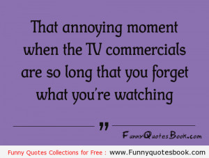 Funny Quotes about TV commercials