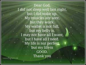 Prayer quote.