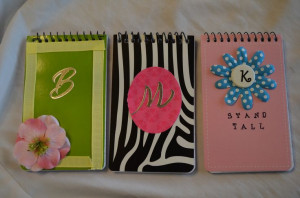 Cute girls camp idea. Decorate notepads, print up copies of ...
