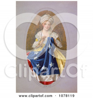 Betsy Ross Sewing The Flag Royalty Free Historical Clip picture