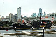 De Farley Mowat aangemeerd in Melbourne Australi