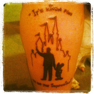My newest tattoo - Walt Disney and Mickey from the Statue
