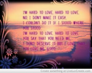 Hard To Love-lee Brice