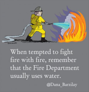 funny quotes about fire