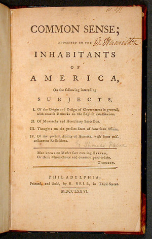 Thomas Paine Common Sense