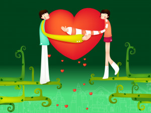 Papel de parede 'Amor no Dia do Namorados'
