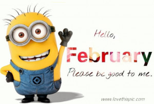 Hello February Minion