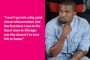 Hallelujah! Fashion junky Kanye West has been born again with the help ...
