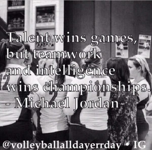 Michael Jordan team quotes volleyball