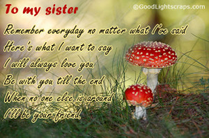 Sister orkut scraps, sister quotes, messages and graphics with sayings ...