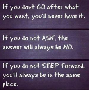move forward don t be afraid