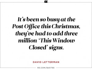 David Letterman on the post office...
