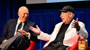 Carl Reiner, left, and Mel Brooks, right, reminisce about their ...