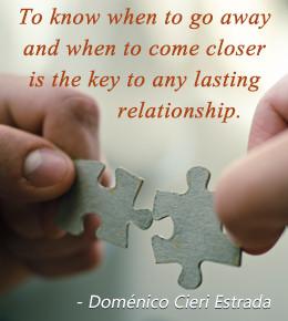 Relationship quote by Domenico Cieri Estrada
