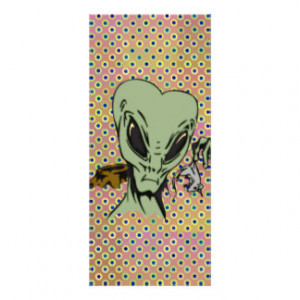 Alien Abductions Of Mice Rack Cards
