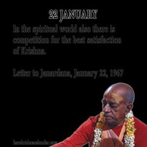Srila Prabhupada Quotes For Month 22 January