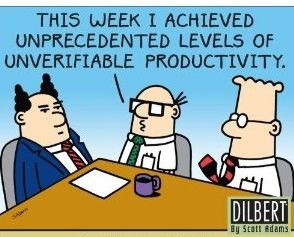 Productivity...as defined by Dilbert