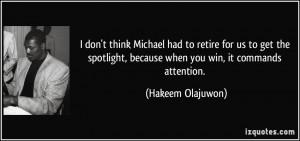Hakeem Olajuwon Quote