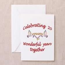 Cute 20th wedding anniversary Greeting Card