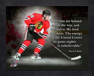 Chicago Blackhawks Patrick Kane Framed Pro Quote