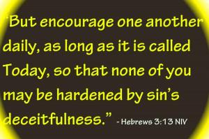 Hebrews 3.13 NIV Bible Verse