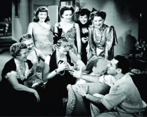 Still of Joan Crawford, George Cukor, Rosalind Russell and Norma ...