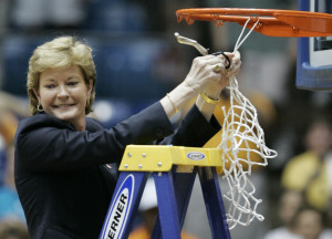 ... coach Pat Summitt can really coach 'em up. And she's a great quote too