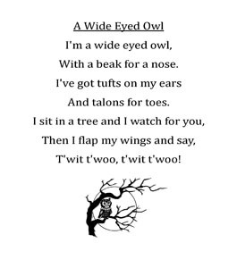 ... is a printable of the poem you can use for your song and poem books