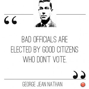 ... elections do, if you're registered to vote you really ought to