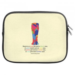 Irish Drinking Quote Zipper Pouch