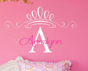 Personalized Princess Vinyl Wall Decal Quote Words for your Wall ...