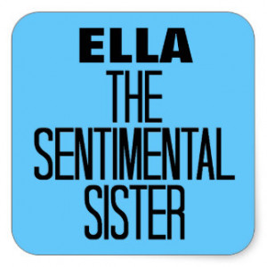 Sentimental Sister Square Sticker