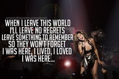 Beyonce I Was Here Quotes I was here by beyonc every