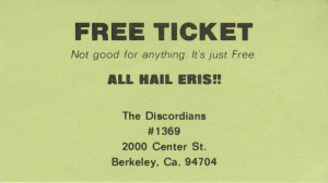 Discordian Operation Mindfuck on a business card. Courtesy of the ...