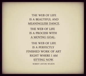 The web of life is a beautiful and meaningless dance. The web of life ...