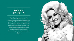 Iconic Hairstyles: Dolly Parton via @PureWow...This is my girl!! She ...
