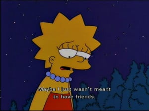 friends, lisa, quote, simpson, simpsons, text