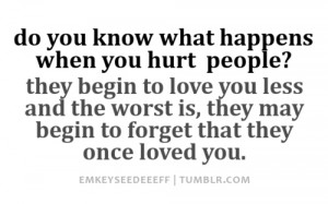 That said, now: HOW TO STOP HURTING PEOPLE?