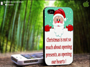 Christmas Gift Quote Open Heart Santa Design For by SidePucket, $15.89