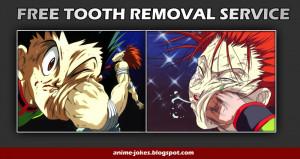hunter-x-hunter-goh-hesoka-punch-head-tooth-removal-funny-anime-jokes ...