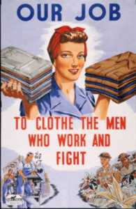 of woman during the homefront they are helping out the men women ...