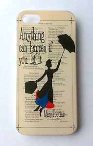 Walt-Disney-Mary-Poppins-Quote-Book-Job-Fun-Retro-Quirky-Case-Cover ...