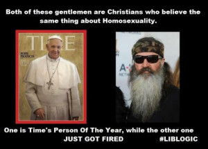 He didn't say gays folks were into bestiality or that homosexuality ...