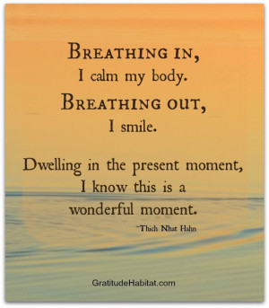 calm your body, this is a wonderful moment Breath inspiration positive ...