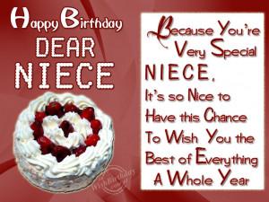 birthday wishes to my nephew niece birthday cards happy birthday niece ...