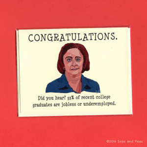 ... Card - Funny Congrats Card - Rachel Dratch - Original Ilustration