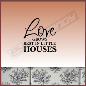 Love grows...Family Wall Words Quotes Sayings Lettering Art