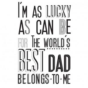 homepage > KARIN ÅKESSON DESIGN > 'WORLD'S BEST DAD' PRINT
